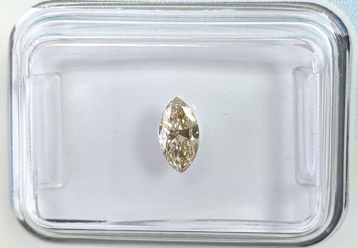 Diamond - 0.29 ct - Marquise - Brown - VS2, IGI Antwerp - No Reserve Price