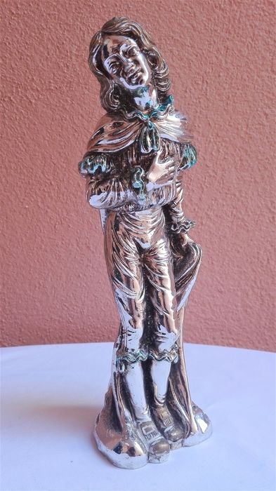 Statue of a Boy - Silver laminated - Italy - 1950-1999
