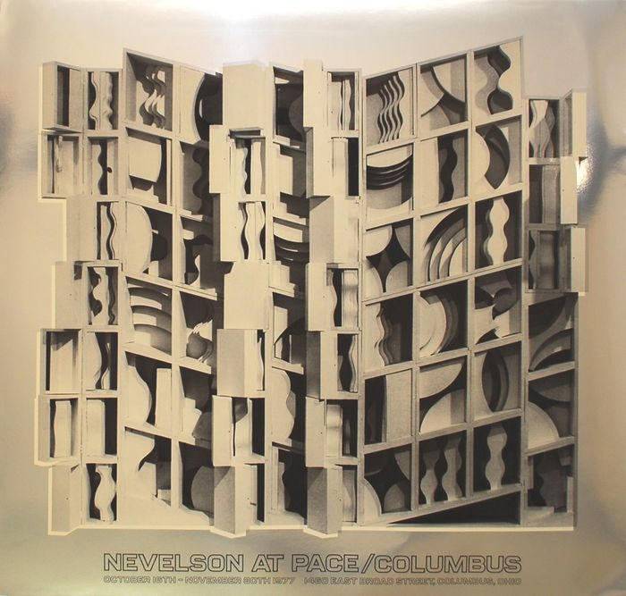 Louise Nevelson - Two posters ; Nevelson at Pace Columbus  - 1977