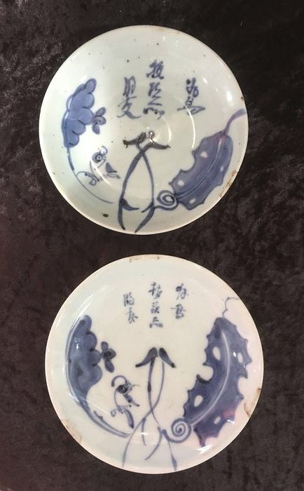 Plates (2) - Blue and white - Porcelain - China for Vietnam - 18th