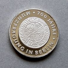 RDA - 10 mark 1981, 700 Jahre Muenzpraegung in Berlin - Probe - Argent