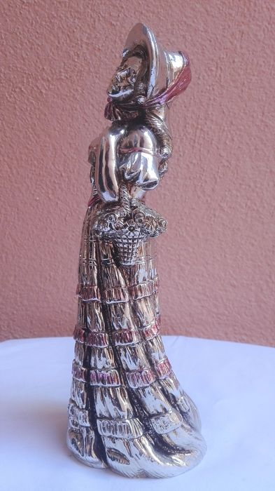 Country Girl Statue - Silver laminated - Italy - 1950-1999