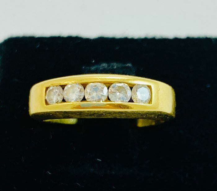 18 kt. Yellow gold - Ring - 0.45 ct Diamond