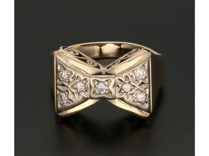 14 kt Gelbgold - Ring - 0.08 ct Diamant