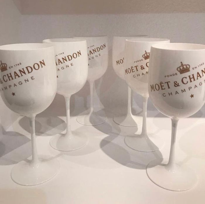 Moët et Chandon Ice glasses of white acrylic - Champagne - 6 glasses