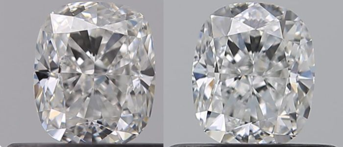 2 pcs Diamanten - 1.06 ct - Kissen - E - IF (makellos), VVS1
