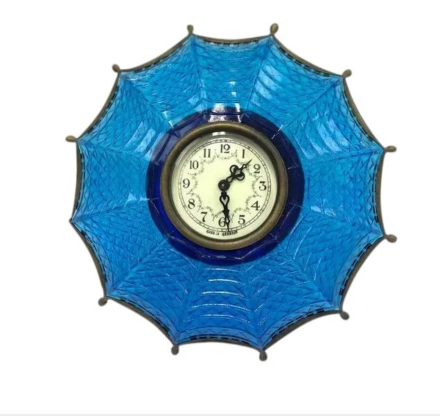 Glass umbrella clock - Artistic - Desk clock - Glass - Approx. 1940
