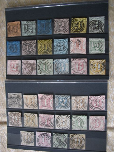 Thurn und Taxis - Collection with 35 different stamps