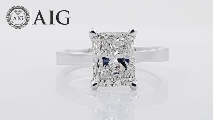 18 kt. White gold - Ring - Clarity enhanced 1.80 ct Diamond