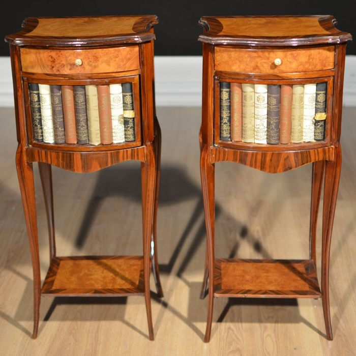 Pair of Napoleon III Style Bedside Tables (2)