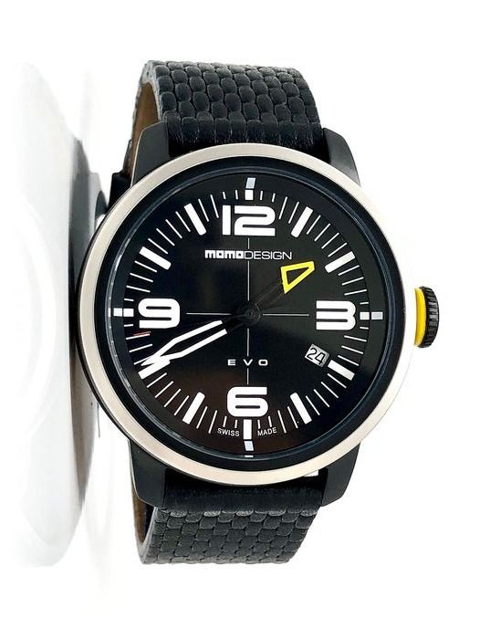 "MomoDesign - EVO Black With Italian Leather ""NO RESERVE PRICE"" - MD1014BS-12 - Hombre - Brand New"