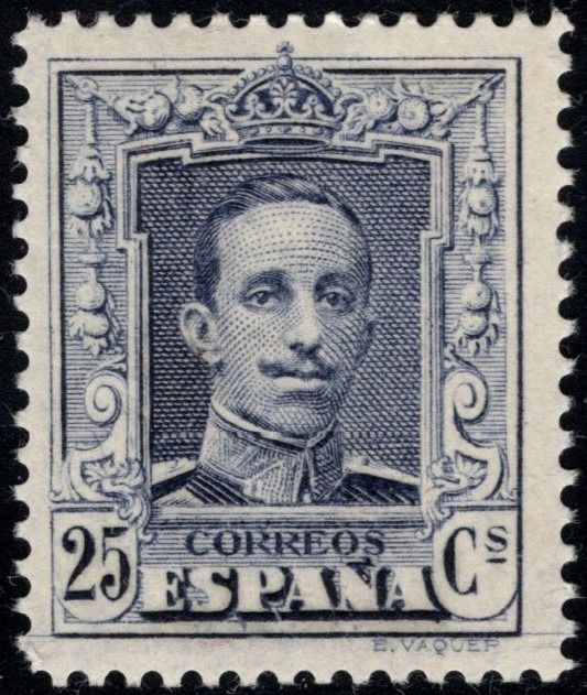 Spanje 1922 - Alfonso XIII. 25 cts blue. Type II. Not issued - Edifil NE24
