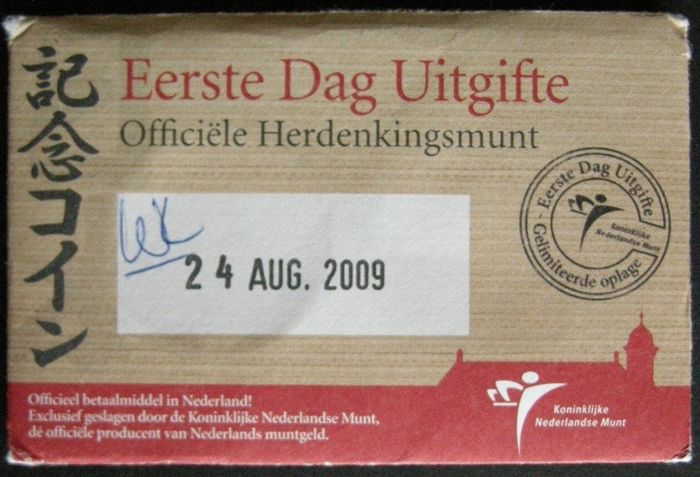 The Netherlands - 5 Euro 2009 Japan - 1e dag uitgifte in coincard