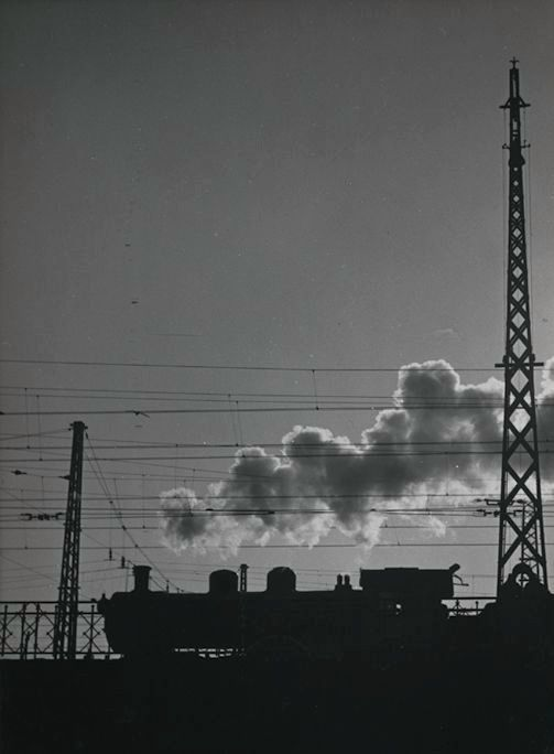 Kees Scherer (1920-1993) - Steam locomotive - the Netherlands 1954