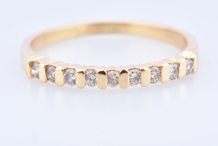 18 kt. Yellow gold - Ring - 0.18 ct Diamond - Diamond