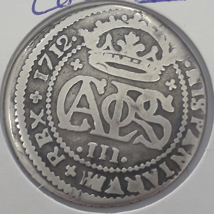 Spain - 2 REALES Reales 1712 - Silver