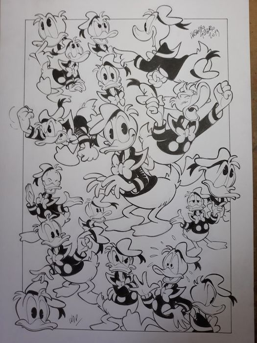 """Donald Duck - """"Paperino, uno di noi"""" - Loose page - Unpublished - (2019/2019)"""