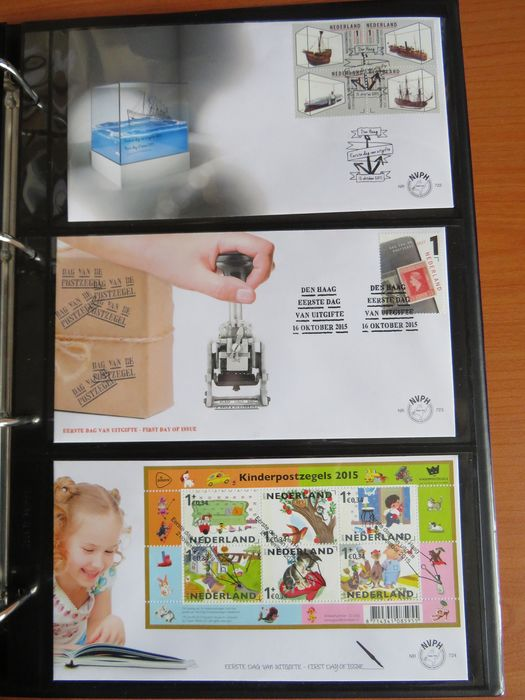Netherlands 2014/2015 - FDC collection in album - NVPH E687/E725
