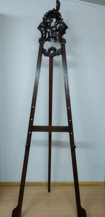 Lectern or stand for hand-carved frame in solid wood - 250x80 cm - Wood - Late 19th century