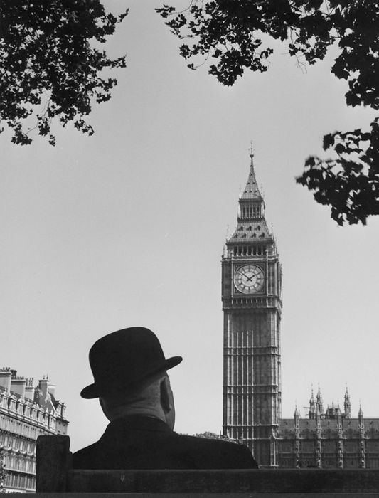 Kees Scherer (1920-1993) - Big Ben and bowler - London 1959