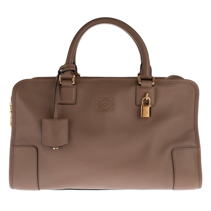 Loewe - Amazona 35 handbag made of grained leather, taupe colour, new condition