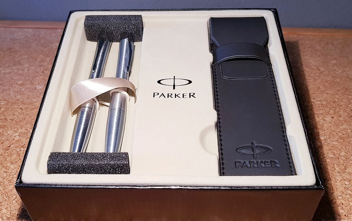 Parker - Ballpoint pen + Propelling pencil + Case - Complete collection of 3
