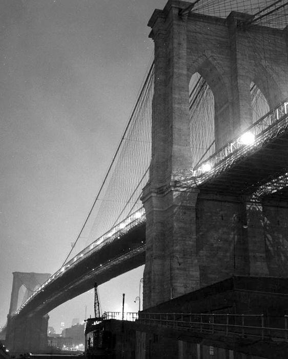 Kees Scherer (1920-1993) - Brooklyn Bridge - New York 1959