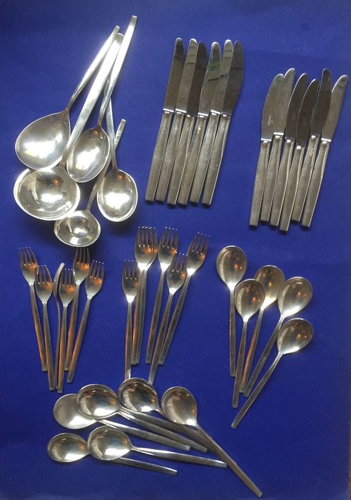Cutlery (41) - Silver plated - The Netherlands - Second half 20th century