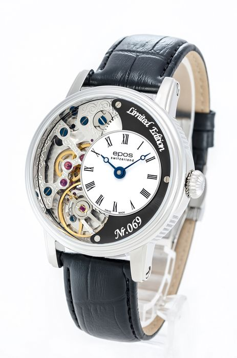 Epos - Limited Edition Skeleton with Pulsometer  - 3435/F-BLK-V2 - Uomo - 2011-presente