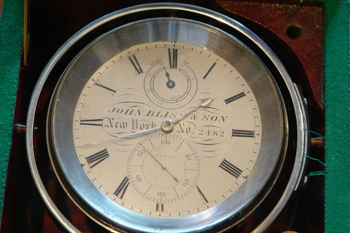 Marine 2 day chronometer, n. 2482 - John Bliss & Company, New York - Brass, Steel - Second half 19th century
