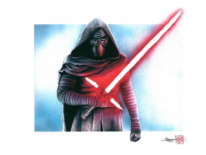 Kylo Ren - Thang Nguyen - Signed Limited Edition Giclee on Fine Art Paper /25