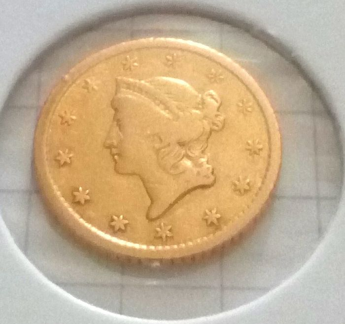 United States - 1 Dollar 1852-O Liberty head - Gold