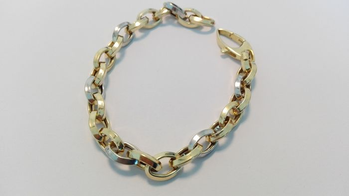 18 kt. Bicolour - Bracelet, White Gold Yellow Gold