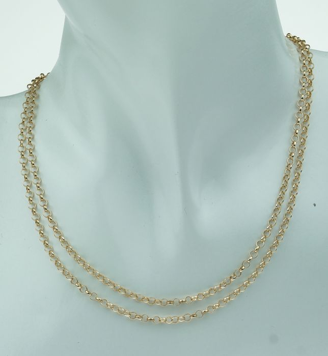 Jasseron schakel - 14 kt. Yellow gold - Necklace