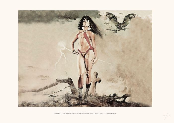 "Special Event at Lucca Comics Museum - ""Omaggio a Vampirella"" Special Exibition at Lucca Comics - Loose page - Reprint"