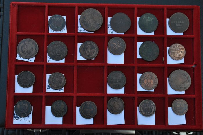 Russia - 45 various coins  1764-1910 - Rame
