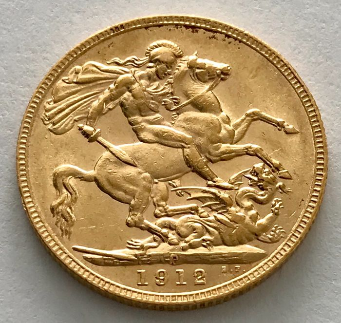 Australia - Sovereign 1912 P - Perth - Georg V. - Gold