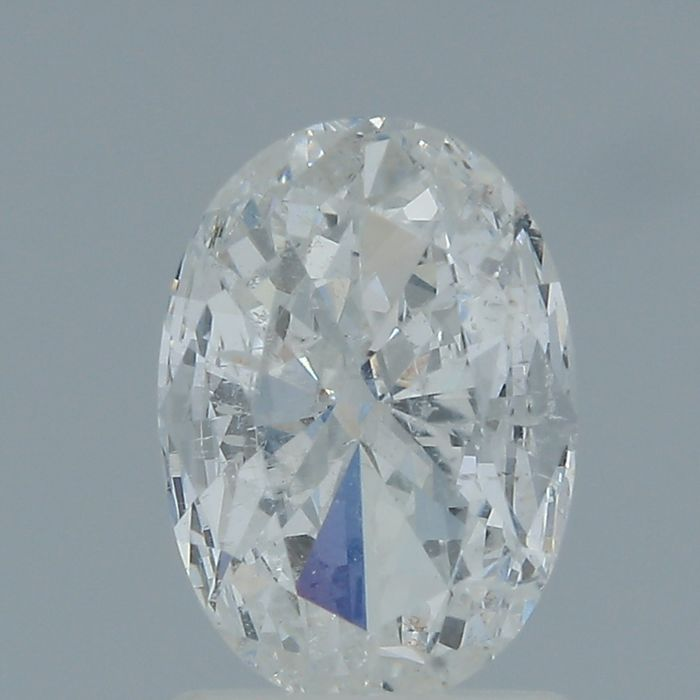 1 pcs Diamante - 1.02 ct - Ovale - E - SI2
