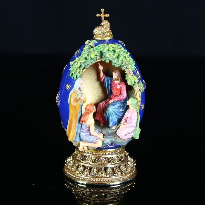 """House of Fabergé - """"Sermon on the Mount"""" - A Nativity Collector Egg - Limited Edition - Signed - Very, very good condition."""