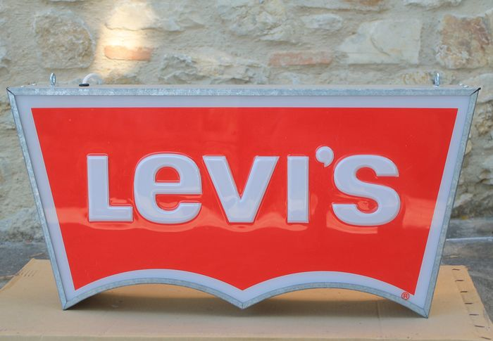 Levi's Backlight Sign. Double sided (1) - Modern - Zinc steel with Embossed acryclic stamp branding