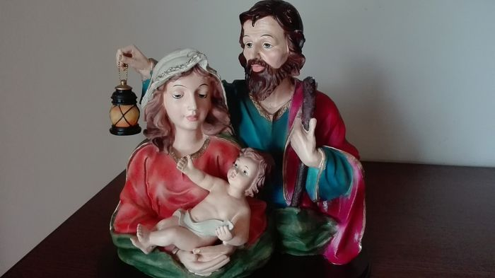 Beautiful colorful holy family - resin