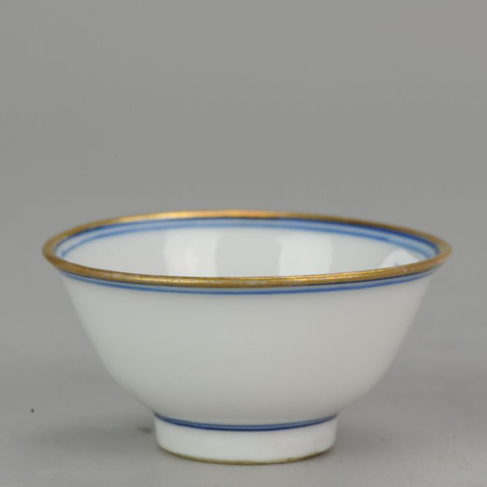 Bowl, Tea cup - Blue and white - Porcelain - Chenghua marked - China - Qing dynasty (Manchu China) (1692-1911)