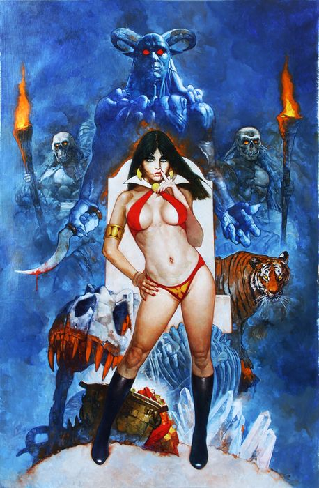 Sanjulian, Manuel  - Vampirella and Hords - Official Signed H.C. Giclée - Vampirella's 50th Anniversary - Official Limited Edition - (2019)
