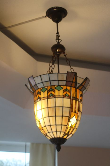Lamp (1) - Art Nouveau - Glass (stained glass)