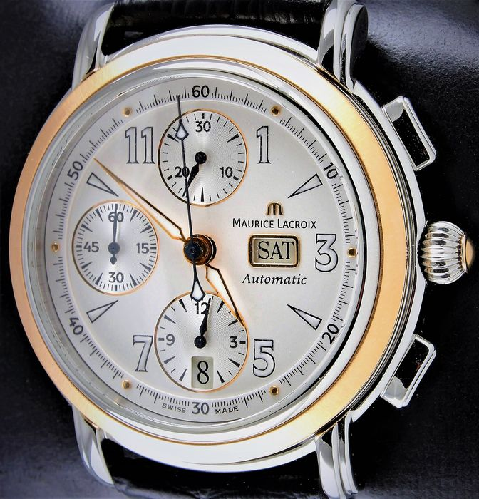 "Maurice Lacroix - MASTERPIECE - ""CRONEO"" - Swiss Automatic Chronograph -  Ref. No: MP6318 - Excellent - Warranty - Full Set - Never Worn! - Men - 2004"