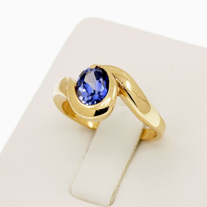 18 carats Or jaune - Bague Spinelle
