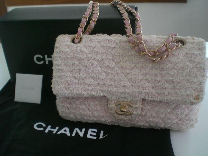Chanel - Classic Single Flap Bag Quilted Tweed  Shoulder bag