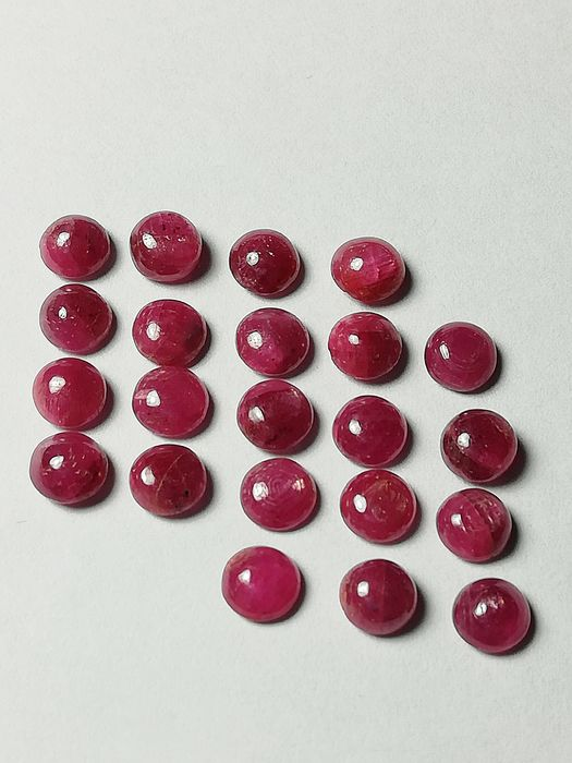 22 pcs  Ruby - 14.83 ct