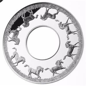 Niue - 2 Dollar 2014 Year of The Horse Rotating Coin - 2 Oz  - Zilver