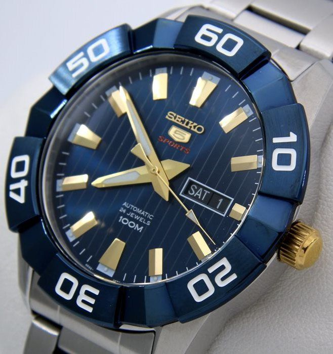 "Seiko - Automatic 24 Jewels ""Blue-Gold"" -  ""NO RESERVE PRICE""  - Men - 2011-present"